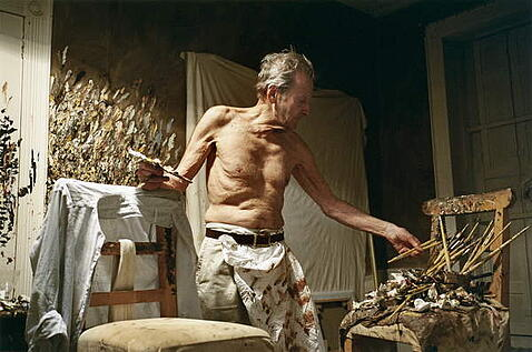 Lucian Freud, 2005 (photo), David Dawson (b.1960) / Bridgeman Images