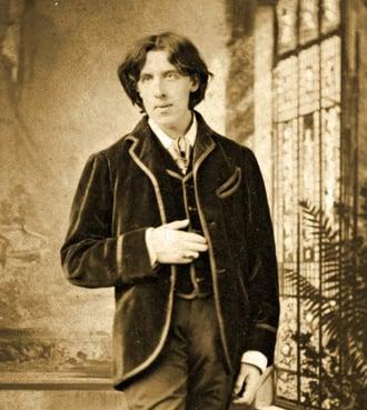 Portrait of Oscar Wilde c. 1882 (b/w photo), Napoleon Sarony (1821-96) / Private Collection / Prismatic Pictures / Bridgeman Images