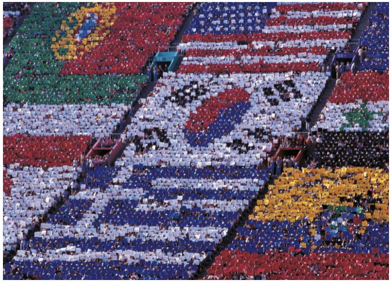 1984 Olympic Games Opening ceremony, 1984 (photo) / Mondadori Portfolio / Nino Leto / Bridgeman Images