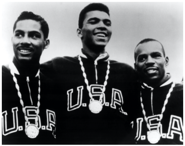 Cassius Clay (Muhammad Ali) with other members of the U.S. boxing team with their Gold Medals at the 1960 Olympic Games / Everett Collection / Bridgeman Images