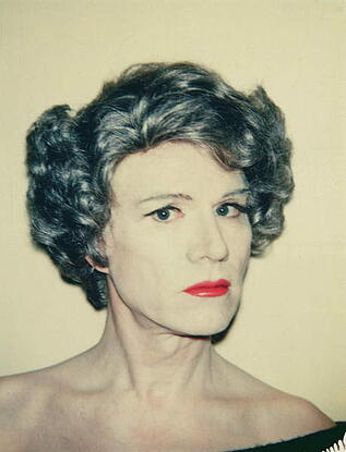 Self Portrait in Drag (photo), Andy Warhol (1928-87) / Hamburger Kunsthalle, Hamburg, Germany / © 2021 The Andy Warhol Foundation for the Visual Arts, Inc / Bridgeman Images