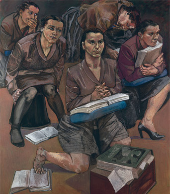 The Lesson, 1997 (pastel on paper, mounted on aluminium), Paula Rego (b.1935) / Private Collection / Photo © Christie's Images / Bridgeman Images