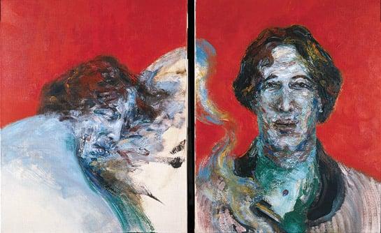 Oscar Wilde, 1985 (oil on canvas), Maggi Hambling (b.1945) / Private Collection / @Maggi Hambling / Bridgeman Images