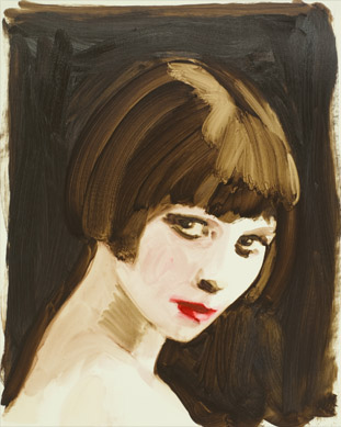 Mary Brooks (Louise Brooks), Annie Kevans (b.1972) / Private Collection / © Annie Kevans / Bridgeman Images