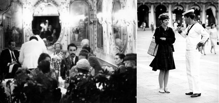 Caffe Quadri, Venice, Italy, 1964 (b/w photo) / © Maria Vittoria Backhaus / Bridgeman Images St. Mark's Square, Venice, Italy, 1964 (b/w photo) / © Maria Vittoria Backhaus / Bridgeman Images
