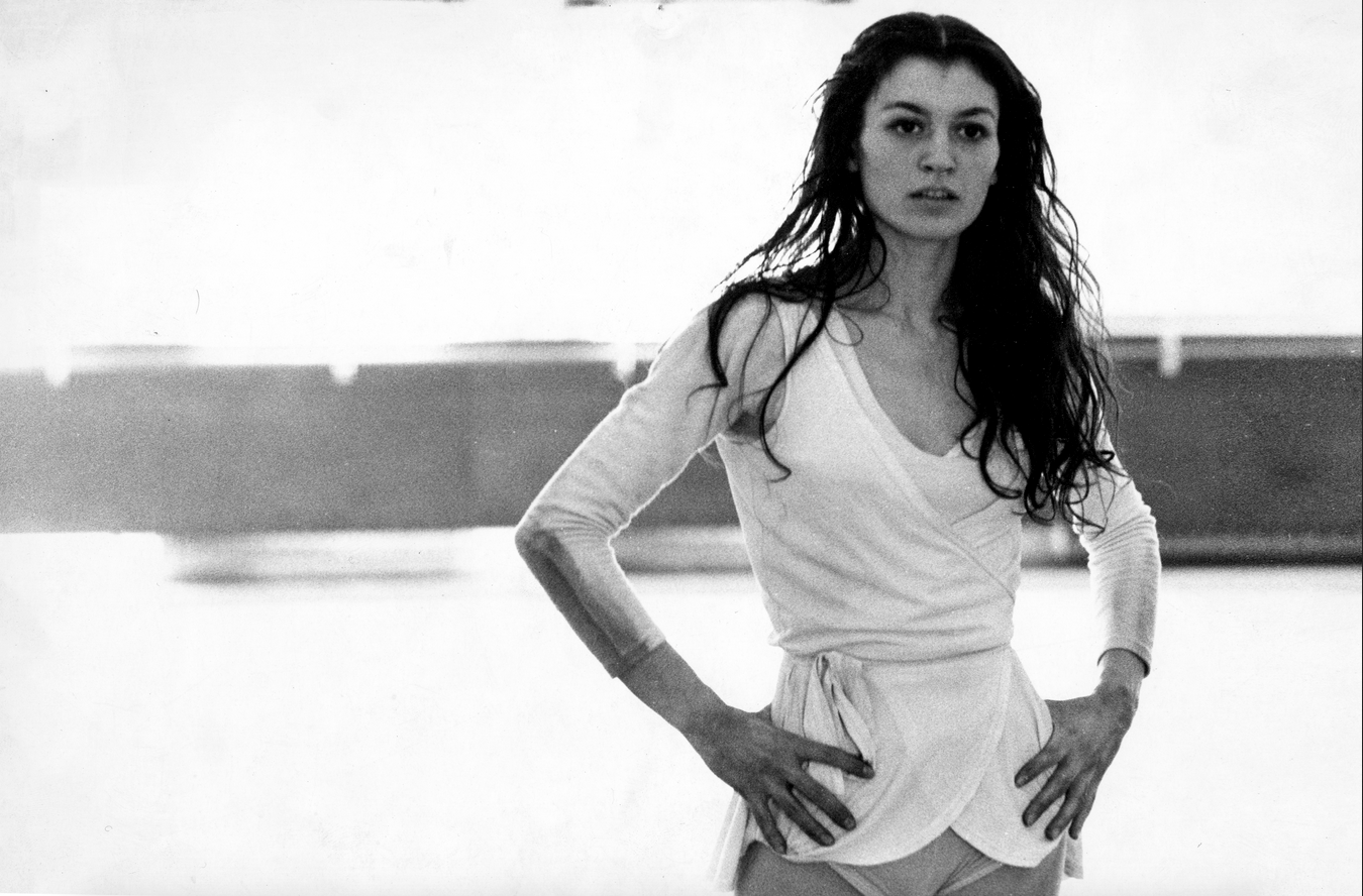Carla Fracci in rehearsal, Teatro alla Scala, Milan, Italy, 1965 (b/w photo) / © Maria Vittoria Backhaus / Bridgeman Images
