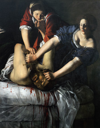 Judith and Holofernes. Painting by Artemesia Gentileschi (ca. 1593-1652/53), oil on canvas / Museo di Capodimonte, Naples, Campania, Italy / Luisa Ricciarini / Bridgeman Images