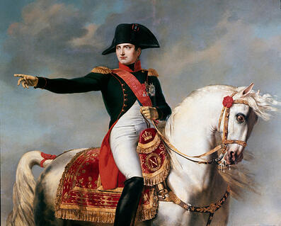 Image of Napoleon on the Battlefield of Wagram, detail, by Joseph Chabord (1786 - 1848 ), 1810 (oil on canvas), Chabord, Joseph (1786 - 1848) / Museo Napoleonico, Rome, Italy © Luisa Ricciarini / Bridgeman Images