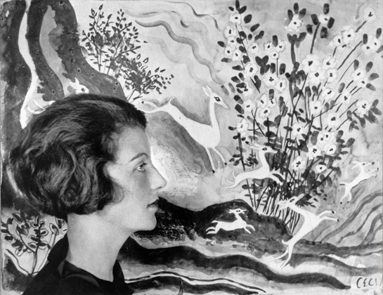 Self portrait (b/w photo), Eileen Agar (1899-1991) / Private Collection / Estate of Eileen Agar / Bridgeman Images